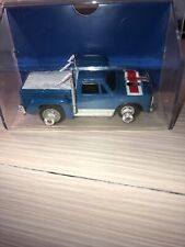 Vintage 1977 HO Slot Car Ideal TCR Slotless Blue Pick Up Truck In Box Case