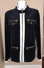 Neiman Marcus Exclusive Black Velour Jacket Sz M