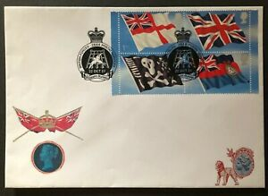 GB 2001 #s 1999a-d - FLAGS- BLOCK OF 4 ON FDC -BRITISH FORCES POSTAL SERVICES