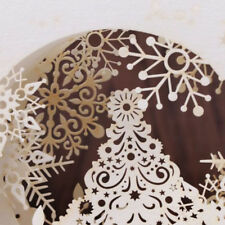 3D Snowflake Greeting Card Gift Holiday Merry Christmas Handmade Pop Up Tree Box