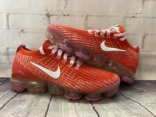 NIKE Air Vapormax Flyknit 3 Red Pink Running Shoes CU4756-600 Women's Size 8 NEW