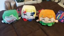 "DC Kawaii Cube Mini 2.5"" Plush Set Wish Factory Joker Harley Quinn Poison Ivy"