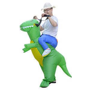 Fancy Dress Dragon Halloween Adult Inflatable Costume T-Rex Dinosaur Suit Gift