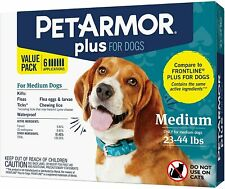 New PetArmor Plus for Dogs Flea and Tick Prevention for Dogs, Medium 23-44lbs