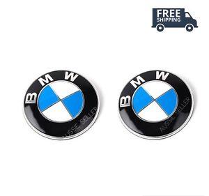 2PCS NEW BMW ( Hood / Trunk / Replacement Badge 82mm ) E36 E46 E90 E92 E65 F30