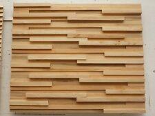 Verblender 3D Wandverkleidung Wand Paneele Dekorplatte Echtholz HANDMUSTER