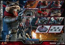 Hot Toys Marvel Avengers Endgame Rocket Raccoon 1/6 Scale Figure In Stock USA