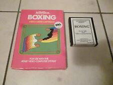 atari 2600 boxing game gioco  pink  rosa box white bianca  cartridge very rare