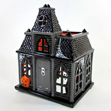 "Bath & Body Works HAUNTED HOUSE 10.5"" Candle Luminary Halloween 2010 Slatkin"
