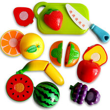 Kids Role Play Kitchen Fruit Vegetable Food Toy Child Wooden Cutting Toys Gifts