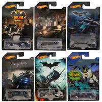 Hot Wheels Die-cast Metal Cars The Bat Batman Set of 6 Vehicles 2014 New