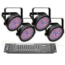 Chauvet DJ SlimPAR 56 LED Lighting Fixture 4-pack w/Obey 10 DMX Controller New