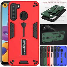 For Samsung Galaxy A21 /A21S Hybrid Armor Kickstand Case Cover +Screen Protector