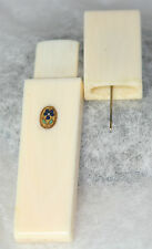 Palais Royal Marked PANSY,Needle case; Original ANTIQUE c1800