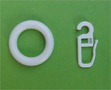 10 Gardinengringe weiß mit Faltenhaken für Stangen mit 10 12 14 mm Durchmesser