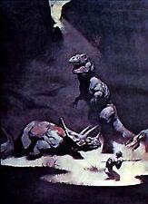 "T-Rex/Dinosaurs/Orn- Frank Frazetta Print/Poster-Vintage 17""x23"" Rolled (Fz-2-3)"