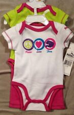 Puma 3-Piece Set 2-Onsies And Pants Size 0-3 Months
