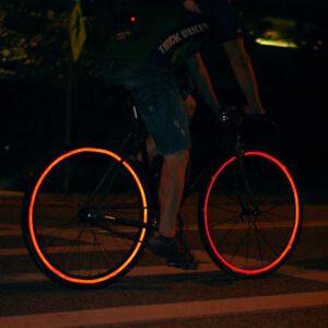 Adesivi Riflettenti Adesivo Riflettente Notte Riflettente Strisce per Ciclismo Adesivi Catarifrangenti Bici per caschi Bici Auto ECC passeggini Moto bianco