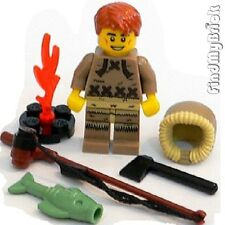 M703 Lego Minifigure 8805 - Ice Fisherman with Extra Utensils NEW