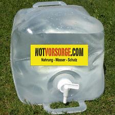 Trinkwasserbehälter FALTBAR Wasserkanister Kanister 20L + Hahn Faltkanister 20 l