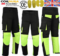 Men Motorbike Textile Trouser Motorcycle Waterproof Pant With CE Armored New