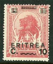 Italy 1922 Eritrea 10¢/1a Claret SG # 60 Mint D823 ⭐⭐⭐⭐⭐⭐