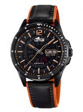 Lotus Herrenuhr Uhr Schwarz Orange Tag Datum Armbanduhr 18525/1