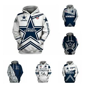 Dallas Cowboys Football Hoodie Pullover Sweatshirt Hooded Jacket Gift For Fans
