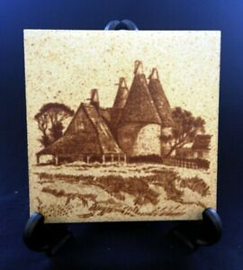VTG H&R Johnson England Tile Oast Houses 15cm Square | FREE Delivery UK*