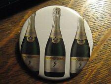 Barefoot Bubbly Sparkling Wine Bottle Label Advertisement Pocket Lipstick Mirror