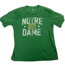 Women's Notre Dame Fighting Irish XL Bling Tee Adidas (Green) Fringe