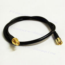 WiFi extension cable RP SMA male plug to RP SMA female jack RG58 1m 3feet long