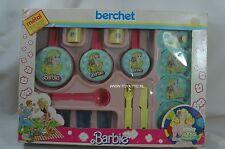 Barbie French childeren tableware kitchen playset from 1986 by Berchet nrfb Rare