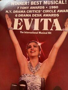 "theatre window card vtg 14x22""  Evita Altar Baker 9805"