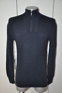 $196 Ullfrotte 400 Woolpower Ostersund Shirt 1/4 Zip thermos base layer M Blue