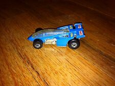 1987 Getty Super Turbo Blue Racing Race Car Hot Wheels Mattel Distressed used