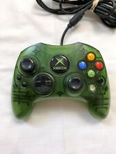 Official Microsoft Original XBOX S-Type Clear Green Controller Wired