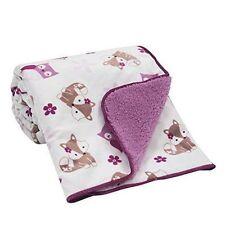 Bedtime Originals Lavender Woods Velour Sherpa Blanket