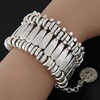 Trendy Bohemian Beach Boho Gypsy Tribal Jewelry Silver Coin Bracelet