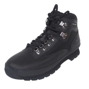 Timberland Euro Hiker Mens Boots Black 56038 Leather Waterproof Outdoors Hiking