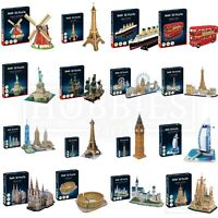 Revell 3D Puzzle Windmill London Bus Big Ben Paris Eiffel Tower New York Liberty