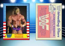 1987 Topps Style ULTIMATE WARRIOR Custom Artist Novelty WWF Wrestling Card