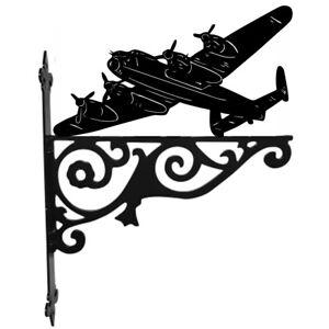 Lancaster Bomber Hanging Basket Bracket Wall Mounted Decorative Garden