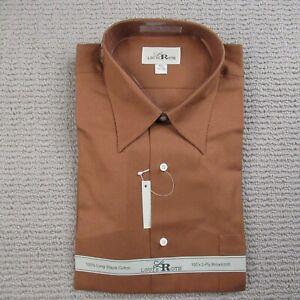 Louis Roth Mens Button Up Shirt Size 15.5 32/33 Burnt Orange Long Sleeve Dress