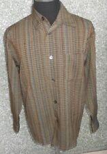 180 E71 Signum Camisa de Hombre TALLA M Verde Caña Oliva Marrón Manga Larga