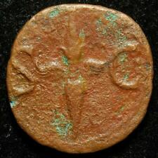 Divus Augustus AE as (issued by Tiberius), r. thubderbolt, Rome 34-37AD - RIC 83