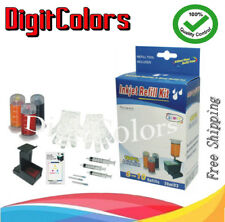 tri-color Refill ink kit bottle box for HP 75 HP 75XL C,M,Y ink cartridge