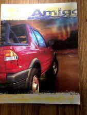 New Listing1998 Isuzu Amigo Sales Catalog Suv, some writing inside brochure
