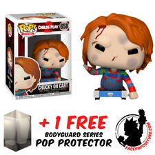 FUNKO POP CHILDS PLAY CHUCKY ON CART EXCLUSIVE VINYL FIGURE + FREE POP PROTECTOR