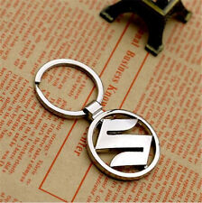 1Pc New keyrings Suzuki car logo key chain silver color 3D promotional trinket